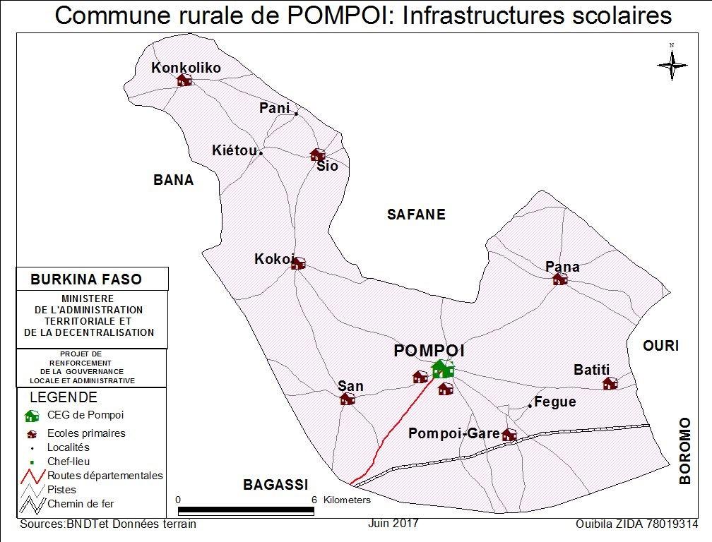 infrastructure scolaire de la commune de pompoi